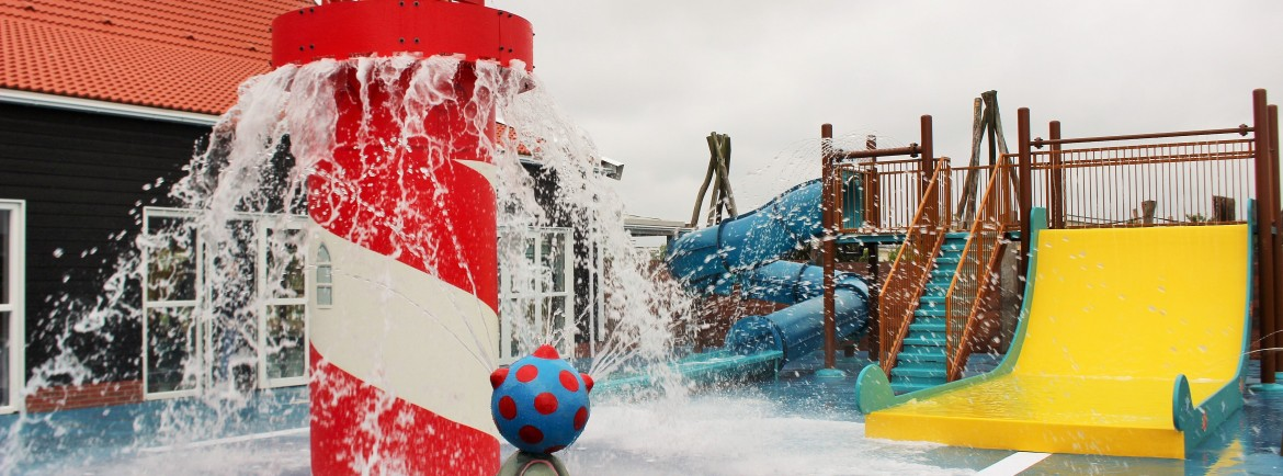 Waterpret in het spraypark!